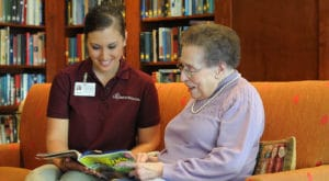 Adult Day Care Caregiver and client bond
